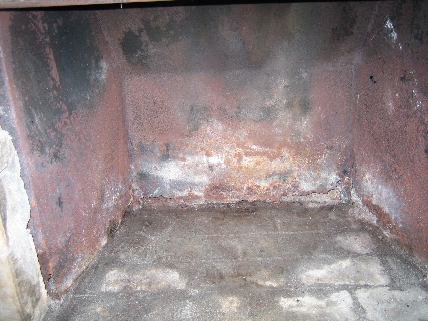 rusted fire box